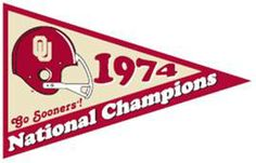 The Oklahoma Sooners are 1974 college football national champions.