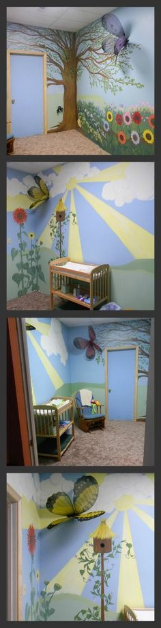 This is a church nursery I've been painting. It still needs some finishing touches like base boards and the doors painted, but here it is to be used for the Easter service. http://www.facebook.com/pages/Skye-Blue-by-Natasia-Champion/362725131270