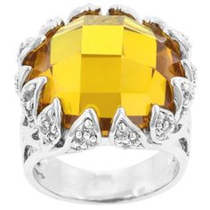 Smart Stock Online. Yellow Vintage Cocktail Ring