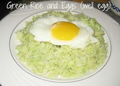 The Art of Random Willy-Nillyness: Abuelitas Avocados ~ The Recipe I Treasure: Green Rice and Eggs
