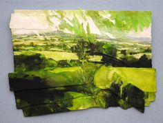 SHROPSHIRE, GREEN (BROMLOW CALLOW) 2015, Price: £4650.00, Medium: Mixed Media on paper, Size: 48 X 62 cms