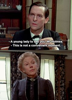 """Mrs. Hudson does not give a hoot for your """"convenient moments."""""""