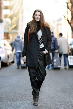 70 Amazing London Street-Style Snaps #refinery29  http://www.refinery29.com/london-fashion-week-street-style#slide54  Walking tall in this too-cool combo.