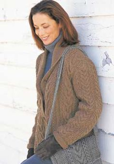 Free Knitting Pattern - Women's Jackets & Outerwear: Garter and Cables Jacket