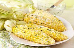 Fresh Corn with Lemon-Basil Parmesan Butter recipe