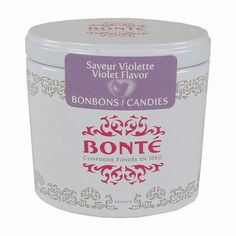 Bonte Pinson Exquisite Tiny Tins - Violet Flavored Candy - made in France