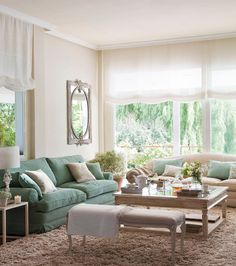 Mismatched sofas work in this room.