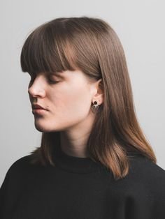 Leiki 3D earrings by Elsi Rauhala-Jackson. Available at www.uumarket.fi - UU Market: Home of New Finnish Design.