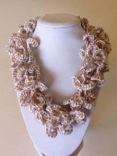 Loopsy Loop Handmade Crochet Necklace by joywelry2love on Etsy, $16.99
