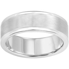 AXL by Triton Tungsten Wedding Band (270 CAD) ❤ liked on Polyvore featuring jewelry, rings, grey, wedding rings jewelry, tungsten rings, grey jewelry, tungsten jewelry and wedding rings