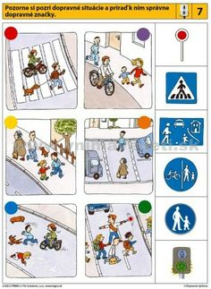 visuele discriminatie voor kleuters / preschool visual discrimination Road Safety Signs, Diy For Kids, Crafts For Kids, Learning Arabic, Education English, Worksheets For Kids, Toddler Crafts, Fine Motor Skills, Transportation