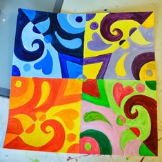 Nessa Dee: Crafty Friday: Color Theory Abstracts