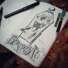 Phobia of mirrors / Phobie des miroirs By artist : Shawn Coss Creepy Sketches, Creepy Drawings, Dark Drawings, Creepy Art, Demon Drawings, Art Sketches, Mental Health Art, Dark Art Illustrations, Horror Artwork