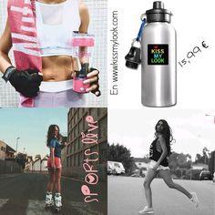 """Sporty chic"" #ideales #cantimplora en www.kissmylook.com #tienda #productoskissmylook #grupoinstagram #bloggers #models #instagramers #spreadshirt #kissmylook #tw feliz tarde kissess"
