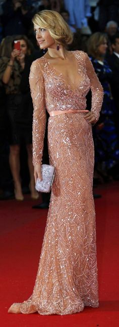 Petra Nemcova in Elie Saab, Cannes 2013