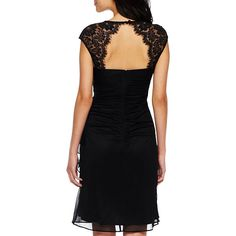 Shirred Lace Dress - JCPenney
