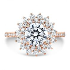 Rose Gold Double Halo Engagement Ring