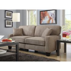 The Serta Palisades Collection 78-inch Sofa brings subtle style and plush comfort to small space living. A great fit for apartments, condos and offices, its compact size and unique, tool-free design m