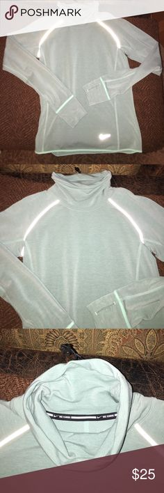 Women's Nike Running long sleeve shirt Nike dri-fit size XS. Sea foam green/aqua color! Worn only once- great condition! Nike Tops Tees - Long Sleeve