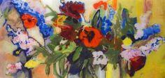 """Poppys"" Clare van Stolk gemengde techniek"