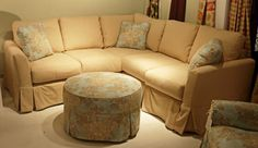 Slipcovered Sectional with Chaise