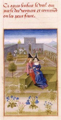 Category:Medieval miniatures of gardens Medieval World, Medieval Art, Medieval Manuscript, Illuminated Manuscript, Medieval Tapestry, Medieval Paintings, Art Ancien, Ukrainian Art, Book Of Hours
