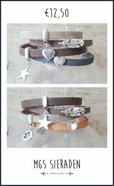 Nieuwe leren armbanden in de webshop!!  http://www.mgssieraden.nl/c-2384333/nieuw/ #leer #nieuw #armbanden #goodprice #12,50