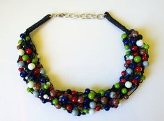 Massive rich spring handmade necklace by EmilyArtHandmade on Etsy
