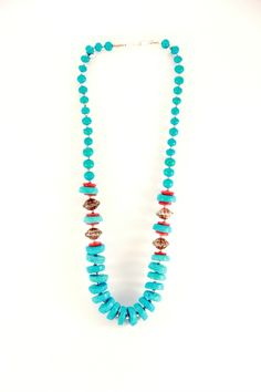 #Turquoise Tribal Necklace  $25.00  #indiverve #jewelry
