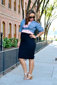 Three Ways to Layer a LBD For Summer   27 Weeks Pregnant