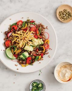 Grilled Pepper and Quinoa Taco Salad