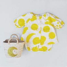 A collection full of sunshine #bobochoses #derblauereiter big fruits blouse and bloomers, launching January 19th #orfeodesign