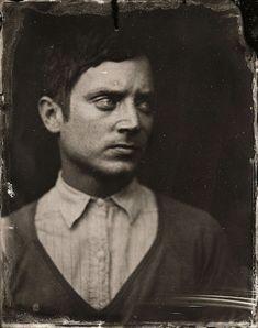 Dramáticos retratos de celebridades contemporáneas al estilo 1860 2014 Sundance TIn Type Portraits - Elijah Wood