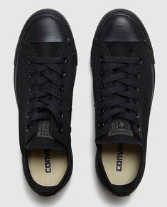 Zapatillas de lona de mujer Converse negras