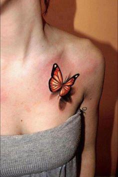 3D butterfly - fantastic! #tattoo #tattoos #ink #inked