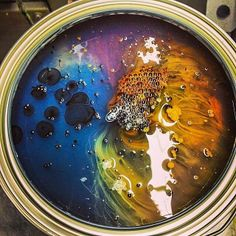 Unmixed paint is surprisingly beautiful. Image from Home Depot.