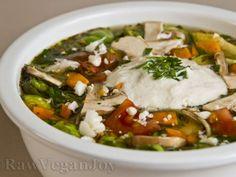 Rețetă Supa de legume cu varza de bruxelles si smantana din caju (raw vegan)