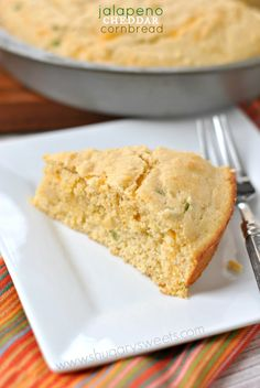 Jalapeno Cheddar Cornbread - Shugary Sweets