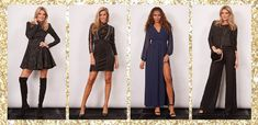 trendy party outfits for NYE Party Outfits, Nye, Dresses With Sleeves, Glamour, Long Sleeve, Shopping, Fashion, Party Dress Outfits, Gowns With Sleeves