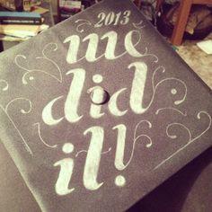 Graduation cap decor