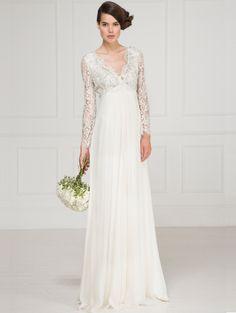 Vintage Lacquer Lace Empire Line Gown
