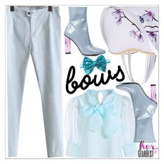 """""""Bows"""" by teoecar ❤ liked on Polyvore featuring lkid and gearbest"""