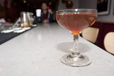 BlogTO   The Pacifier Cocktail (Bourbon, Heering Cherry Liqueur, and Scrappy's lavender bitters)
