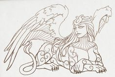Divine Femme - Sphinx | Urban Threads: Unique and Awesome Embroidery Designs