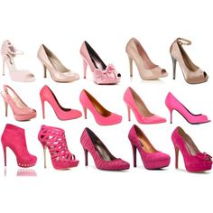 Ombre Pink Shoes, created by kristenmycoveredbridge.polyvore.com