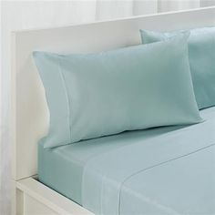 Queen Bed Sheet Set - 180TC, Aqua | Kmart