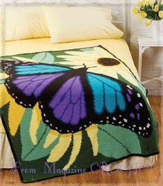 """Crochet """"Afghan"""" Blanket + Free Pattern + Diagrams"""
