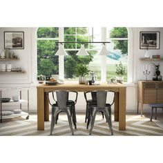 Buy Dorel Home Products Elise Metal Dining Chair, Set of 2, Multiple Colors at Walmart.com