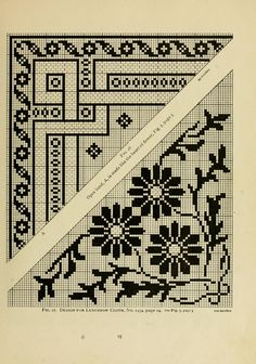 The Priscilla filet crochet book; a collection ...  Luncheon cloth