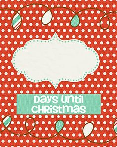 Detail-Oriented Diva!: Days Until Christmas Dry-Erase Countdown ...